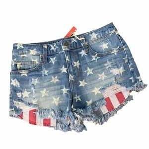 Mossimo Star & Stripes High Rise Shorts
